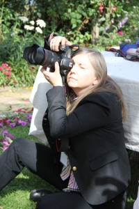 Photographer Joni Kabana at work documenting the event.