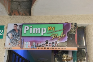 "The ""Pimp My Style"" Ladies Boutique--perhaps not quite the message they intended to send..."