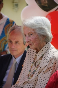 Richard Hamlin, with his mother, Catherine.  Happy Birthday!