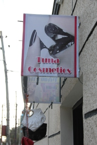 The Tuna Cosmetics Shop.  Perhaps the name loses something in translation...